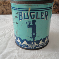 Vintage Bugler Collectible Tobacco Tin Can
