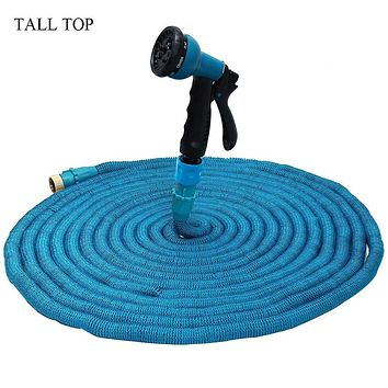 Hot 3 Colors 25-100FT Expandable Magic Flexible Garden Water Hose For Car Hose Pipe Plastic Hoses To Watering With Spray Gun