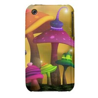 Whimsical Mushrooms iPhone 3G/3GS Case