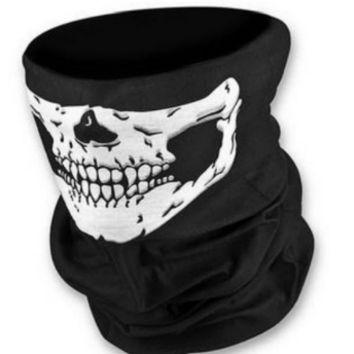 Sports Hat Cap trendy  Motorcycle SKULL Ghost Face Windproof Mask Outdoor Sports Warm Ski Caps Bicyle Bike Balaclavas Scarf Birthday Present Skate KO_16_1