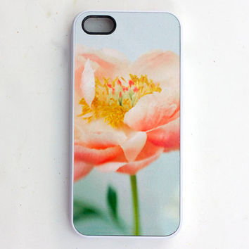 Coral Peony  IPhone 5 Case, IPhone 4 Case,  Flower Case, Women's Accessory, Original Photograph,  Made to Order