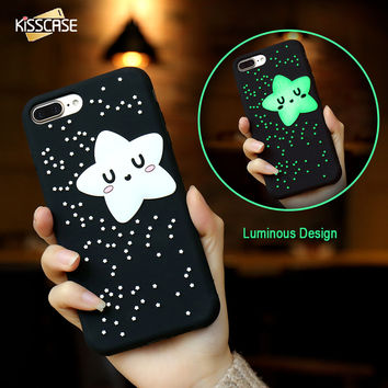 KISSCASE Phone Cases For iPhone 6 6s 7 Plus Case Cute 3D Cartoon Biscuit Case Soft Silicon Cover Couque For iPhone6 Souple