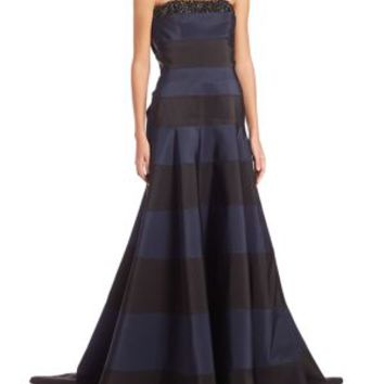 Carolina Herrera - Off-Shoulder Floral Fil Coupe Ball Gown