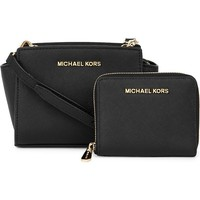 MICHAEL MICHAEL KORS - Leather cross-body bag and purse gift set | Selfridges.com