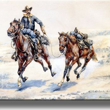 The Empty Saddle Cowboy Picture on Acrylic , Wall Art Décor, Ready to Hang!