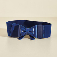 Bow, Baby! Belt in Cobalt | Mod Retro Vintage Belts | ModCloth.com