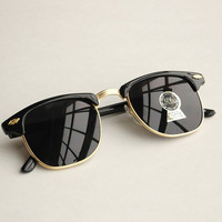 Black and gold vintage clubmaster sunglasses M71a by MeisterShades