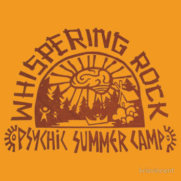 Whispering Rock Psychic Summer Camp Logo (Orange) T-Shirts & Hoodies