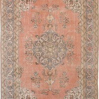 "Vintage Turkish Overdyed Rug, 6'9"" x 10'6"""