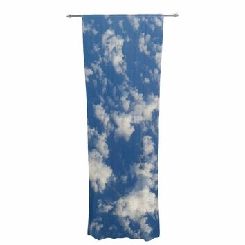 "Rosie Brown ""Cotton Clouds"" Blue White Photography Decorative Sheer Curtain"