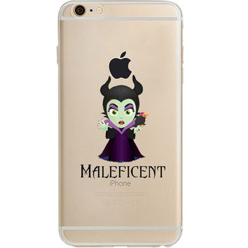 Disney's Villains (Maleficent) Jelly Clear Case For Apple Iphone 6/6s (4.7-Inch)