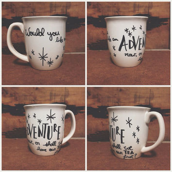 "Peter Pan ""Would you like an adventure now, or shall we have our tea first"" Handmade Mug"