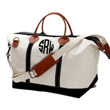 Shop Monogrammed Weekender Bag on Wanelo