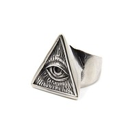 Illuminati Statement Ring in Heritage Silver