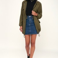 Sheffield Olive Green Hooded Jacket