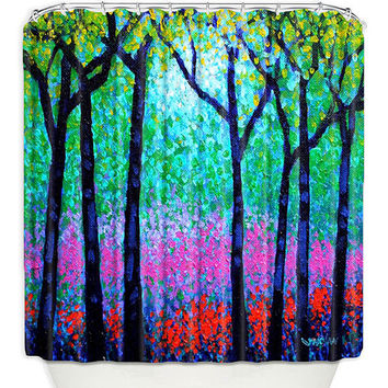 Artistic Shower Curtains by DiaNoche Designs, Spring Woodland