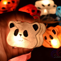 Bed Room Night Lights Panda String Lights for Bedroom Decoration 20 Lights/SetMixed