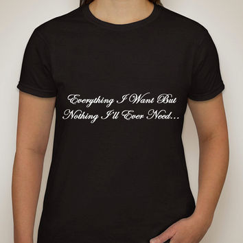 "One Direction ""Everything I Want But Nothing I'll Ever Need / Liam Payne Tattoo"" T-Shirt"