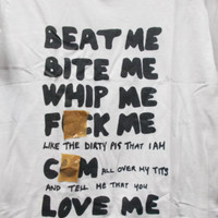 Beat Me Bite Me Whip Me.. 70's Punk T Shrt Adam Ant / Adam & The Ants / Siouxsie