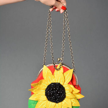 Handmade bag designer bag for women gift ideas felt handbag gift for girls