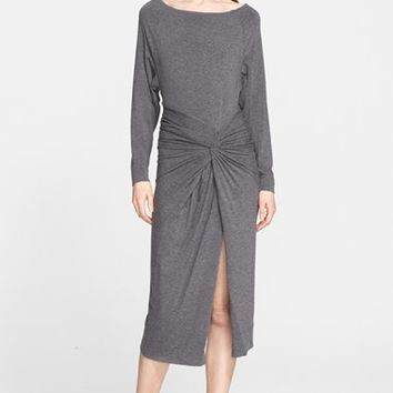 Women's Donna Karan New York Front Twist Jersey Dress