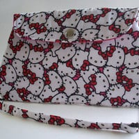 Hello Kitty Clutch Purse with Chain Strap / Hot Pink Bag