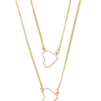 Cutout Heart Layered Necklace
