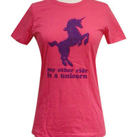 Pink Unicorn Shirt My Order Ride is Unicorn by theboldbanana