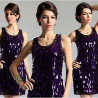 summer women tank dress 1920s style flapper applique bead y dresses Alternative Measures - Brides & Bridesmaids - Wedding, Bridal, Prom, Formal Gown