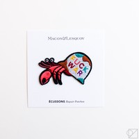 Macon & Lesquoy Peace Hermit Crab Hand Embroidered Patch