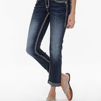 Rock Revival Karla Mid-Rise Cropped Stretch Jean