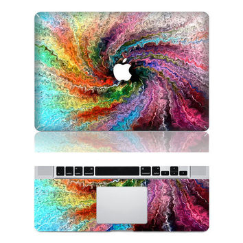 Colored Swirl ---  Full Mac Decal Macbook Decals apple decals mac decals vinyls macbook stickers Vinyl mac stickers