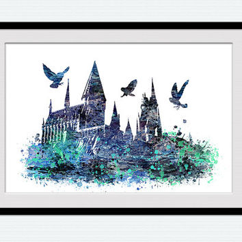 Hogwarts Castle Poster Harry Potter From ColorfulPrint On Etsy