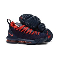 Nike LeBron 16 Navy Red Sneakers