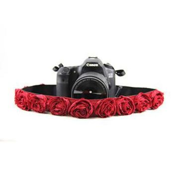 Red Organza 1.5In Camera Strap - Capturing Couture - CASLR15-RDRS
