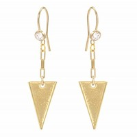 The Empire Gold Earrings - Earrings - Jewelry | Vanessa Mooney Jewelry