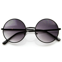Designer Medium Round Metal Fashion Sunglasses 8570