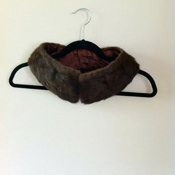 Brown Fur Collar by JezzyBelles on Etsy