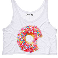 Donuts Crop Tank Top