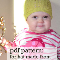 Recycled sweater hat pattern. Two sizes- 0-6months and 6-12 months.  -With permission to sell finished items-