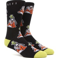 Neff Goofin Around Crew Socks - Mens Socks - Black - One