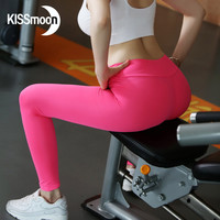 KISSmoon High waist Sport leggings fitness Gym legins Female sexy push up Lycra spandex leggings Women workout leggings KL0069