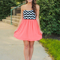 Beauty Pop Dress- Neon Coral