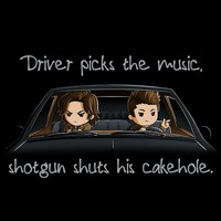 Sam & Dean Winchester Shotgun Shuts His Cakehole T-Shirt | Official Supernatural Tee – TeeTurtle