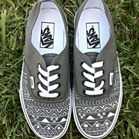 Gray Aztec/Tribal Vans