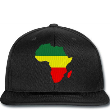 AFRICA MAP EMBROIDERY Snapback