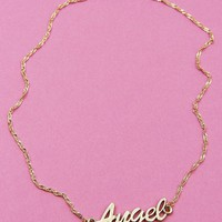 Angel Name Plate Necklace