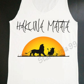 Hakuna Matata Tank Hakuna Some Vodka Tank Top Hipster Tank Top Women White Shirt Tunic Tank Top Vest Sleeveless Women TShirt Size S,M,L
