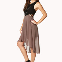 Crepe Woven High-Low Dress | FOREVER 21 - 2073228092