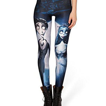 Women's Gothic Stylish Printed Leggings Tights for Casual Yoga Gym